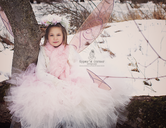 A sweet little winter Pixie in pink captured by © 2016 Gypsy's Corner Photography LLC