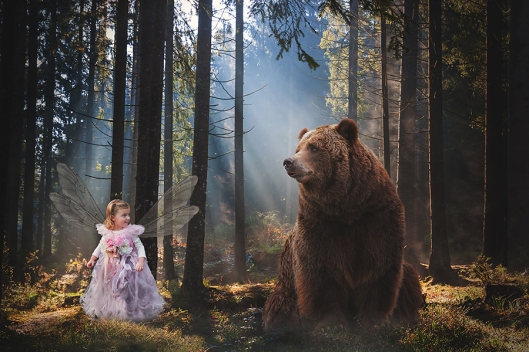 Buffalo Children Photography|Fairy and Bear|©Gypsy's Corner Photography