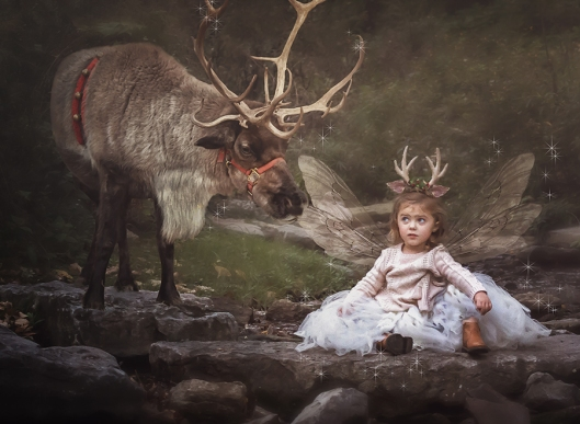 Buffalo Children Photography|Reindeer Fairy|©Gypsy's Corner Photography