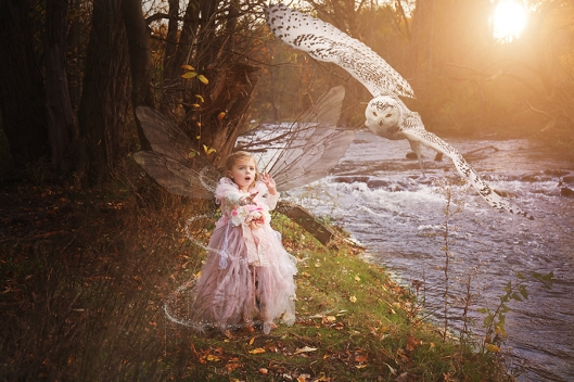 Buffalo Child Photographer|Owl and Fall Fairy|©Gypsy's Corner Photography