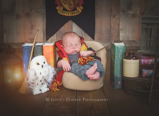 Buffalo NY and WNY Newborn Photographer | Harry Potter baby Boy |Gypsy's Corner Photography-31Web