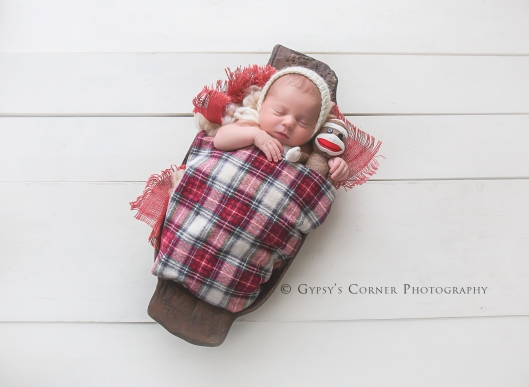 Buffalo WNY Newborn Photography | Sock Monkey | Gypsy's Corner Photography-49Web