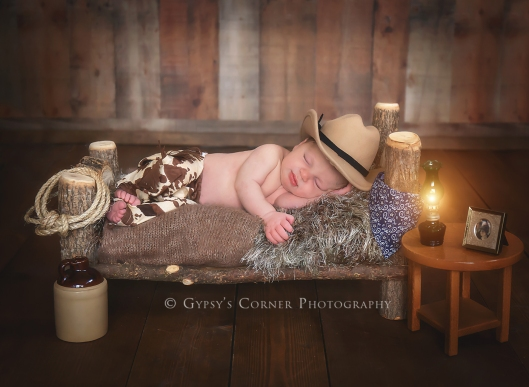 Buffalo Newborn Photographer| Little Cowboy |Gypsy's Corner Photography