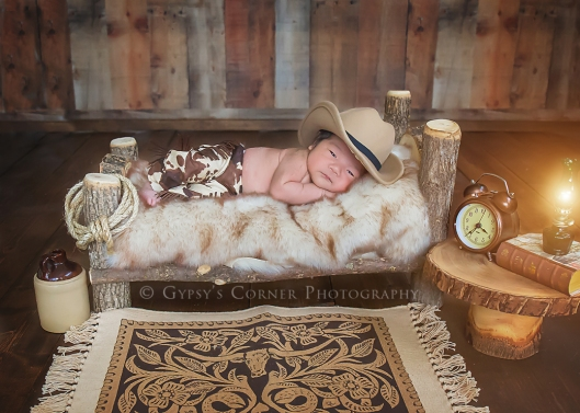 Buffalo Newborn Photographer| Little Texan |Gypsy's Corner Photography