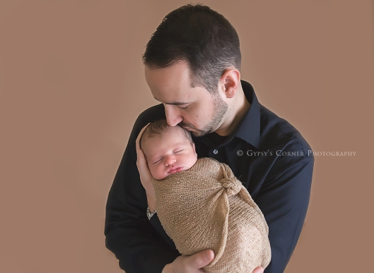 Buffalo Newborn Photographer| Proud Dad |Gypsy's Corner Photography