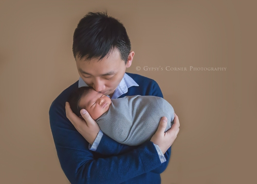 Buffalo Newborn Photographer| With Dad |Gypsy's Corner Photography