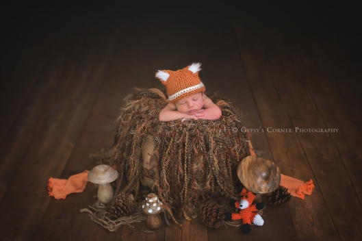 Buffalo Newborn Photographer|Baby boy as a little fox|Gypsy's Corner Photography-118Web