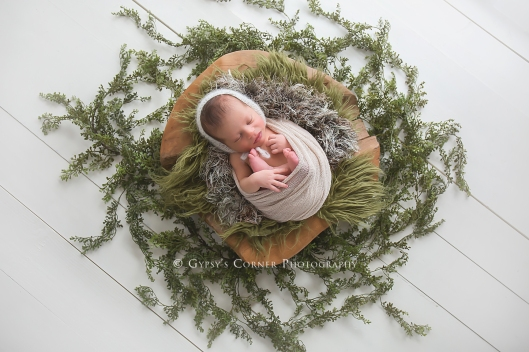 WNY Newborn Photographer|Baby boy in wood bowl|Gypsy's Corner Photography-135Web