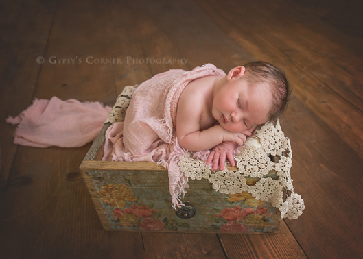 Buffalo Newborn and Baby Photography|Vintage and lace newborn baby girl|Gypsy's Corner Photography