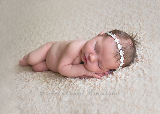 Lancaster NY Newborn Photographer | Baby girl sleeping on cream lace|Gypsy's Corner Photography-8Web