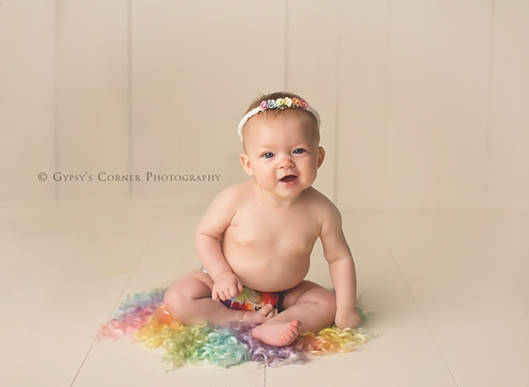 Buffalo Area Baby Pictures|Pastel Rainbow Baby|Gypsys Corner Photography