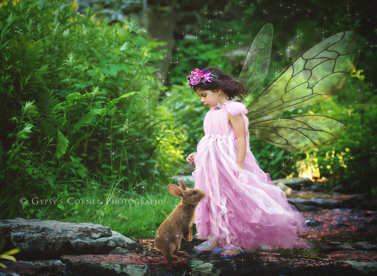 Buffalo Children fairytale photography|Woodland Fairy and bunny|Gypsy's Corner Photography