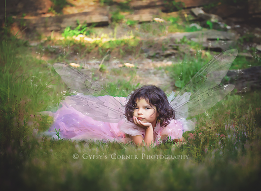 Buffalo Fairy and Children Photography| Thinking fairy|Gypsy's Corner Photography