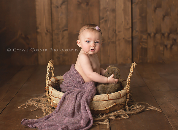 A Baby Girls 6 Month Session Gypsys Corner Photography