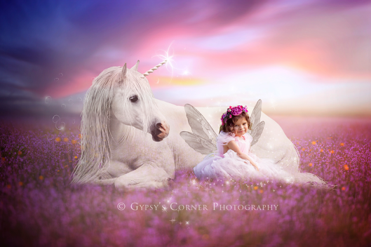 Buffalo NY Fairytale Portraiture|Unicorn and Fairy|Gypsy's Corner Photography