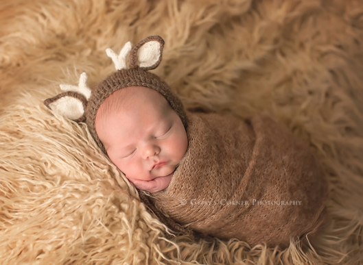 Buffalo and WNY Newborn Photographer|Cute Baby Boy bundled up little deer|Gypsys Corner Photography-57Web
