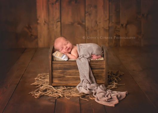 Buffalo Baby Photographer|Baby Boy sleeping in a little bed|Gypsys Corner Photography
