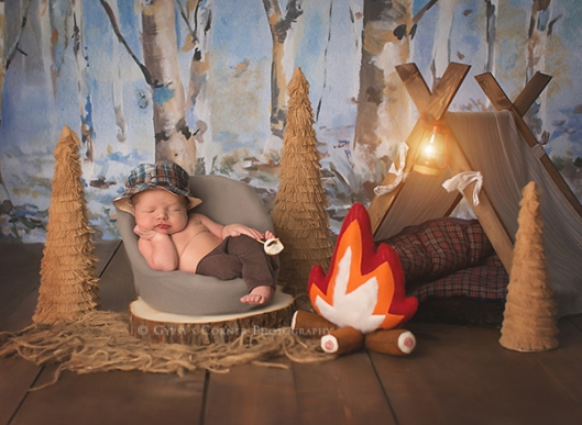 Buffalo Best Newborn Photographer|Baby boy as a little camper|Gypsys Corner Photography