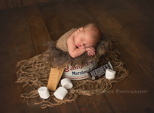 Buffalo Newborn and Baby Photographer|Baby Boy roasting Marshmallows|Gypsys Corner Photography-1Web