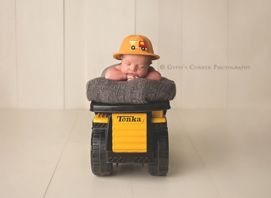 Buffalo NY Newborn Photographer|Newborn Baby Boy in a Tonka truck|Gypsys Corner Photography-13Web