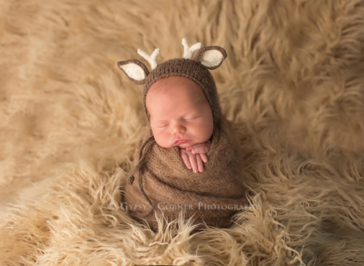 Buffalo WNY Newborn Photographer|Newborn Boy as a little deer|Gypsys Corner Photography-14Web